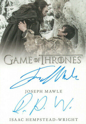 Game of Thrones Inflexions, Joseph Mawle / Isaac Hempstead Dual Autograph Card