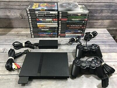 PS2 SLIM LOT Controllers Sony Playstation 2 Simpsons Jak