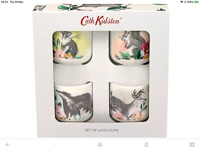 Cath Kidston Badger And Friends Set Of 4 Egg Cups - Brand New