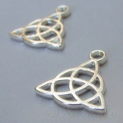 Celtic Trinity Knot Charms 15mm Silver Plated Pendants C5581 - 10, 20 Or 50PCs