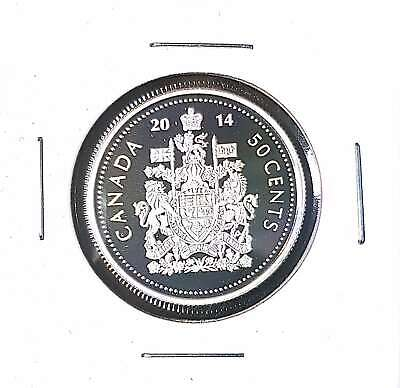 2014 50 Cent Canada .9999 FINE SILVER Proof - Heavy Cameo - From Mint Set