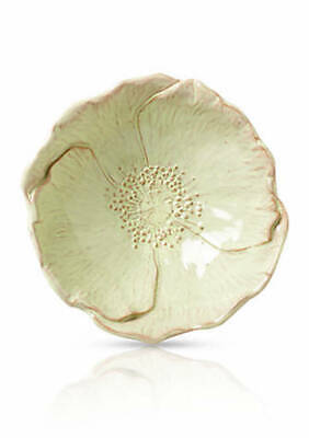 Vietri Bellezza Bloom Celadon Poppy Small Bowl Handmade Made in Italy NEW