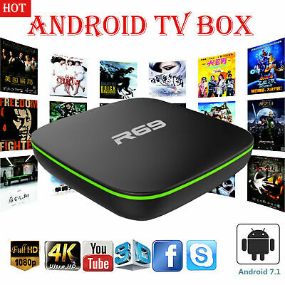 TV CAJA  inteligente Android 7.1 TV BOX 4K WiFi Kodi cuatro núcleos 3D reproduct