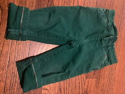 burberry baby, green, pants, 12 month, toddler, long pants.
