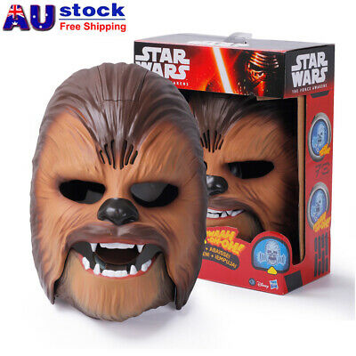 Star Wars The Force Awakens Chewbacca Electronic Mask Voice Gift Party Toy AU