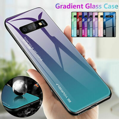 Shockrpoof Gradient Tempered Glass Case Cover For Samsung S9 S10 Plus A7 A9 2018