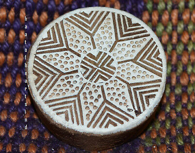 Wooden Printing Blocks Indian Hand Carved Textile Fabric Stamps 0898