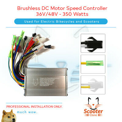 Electric Bicycle E-bike Scooter Brushless DC Speed Controller 36V/48V 350W