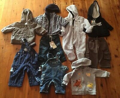 Bulk Mixed Baby Boy Winter Clothes x 9 Size 00-0 VGC!!! Disney Pumpkin Patch