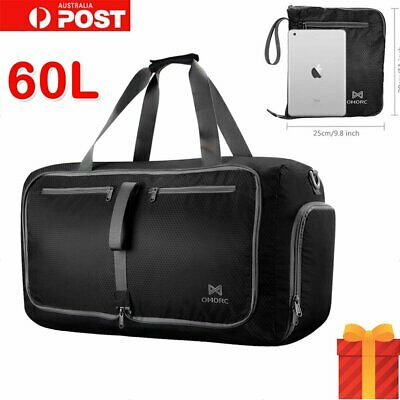 OMorc Duffel Big Foldable Bag Waterproof Large Capacity 60L For Gym Travel Sport