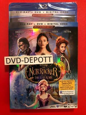 THE NUTCRACKER AND THE FOUR REALMS Blu Ray + DVD + HD & Slipcover New Free Shipp