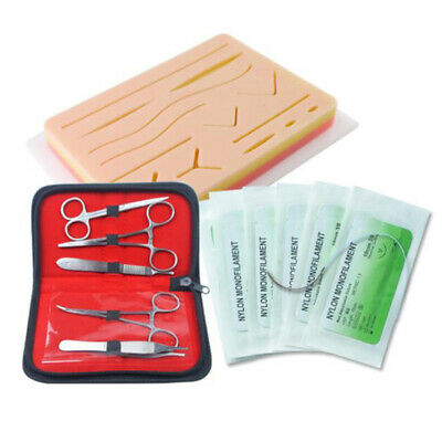 Complete Suture Practice Kit Suturing Training Medical Silicone Suture Pad Tool