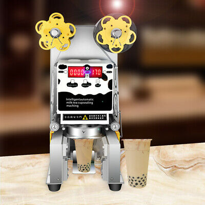 Desktop durable electric automatic cup sealing machine for milk tea coffee shop