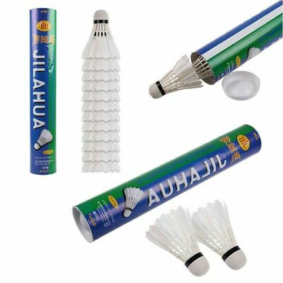 24pcs/set White Goose Feather Badminton Competition Gaming Shuttlecock