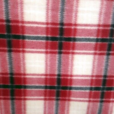 Red Green Navy Ivory Border Zigzag Southwestern Indian Fleece Fabric by the Yard