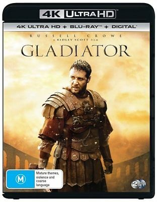 Gladiator 4K Blu-Ray UHD : NEW 4K Ultra HD