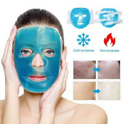 Face Mask Ice Compress Reusable Pack PVC Gel Sheet Cooling Fatigue Relief