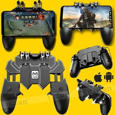 AK66 Six Finger Mobile Game Controller Fire Key Button Trigger Gamepad for PUBG