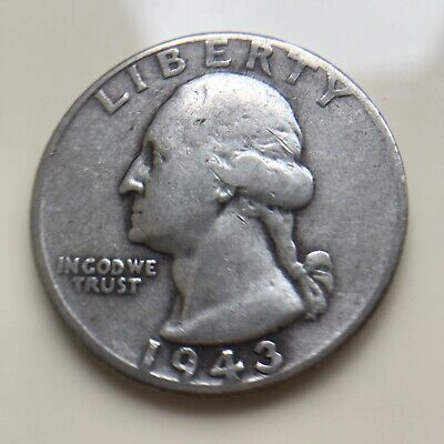 United States Of America 1943 25 Cents Quarter Coin .900 Silver Usa  Lot Ref 004