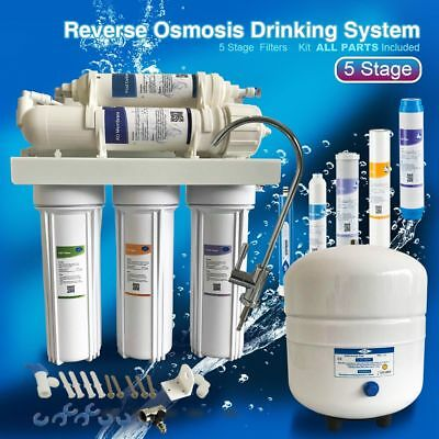 Ms 5Stage Reverse Osmosis Ro Water Filter System 75Gpd Undersink Water Purifier