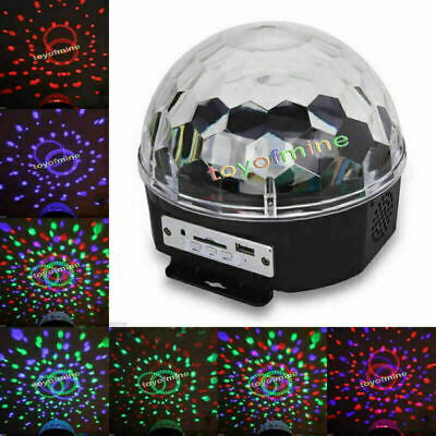 20W RGB LED MP3 DJ Club Pub Disco Party Crystal Magic Ball Stage Light EU Plug
