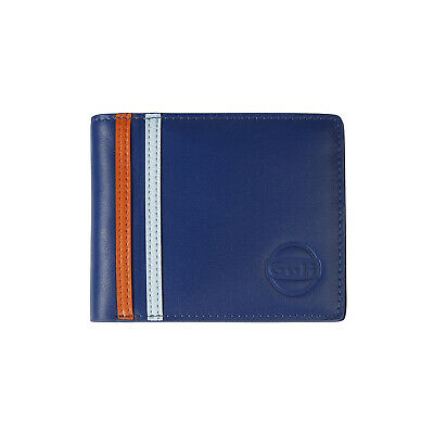 Gulf Racing Motorsport Team Official Mens Classic Leather Wallet Card Holder