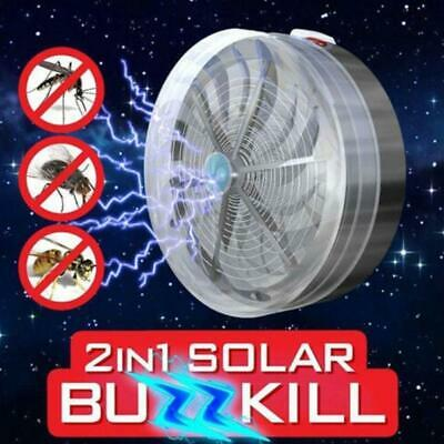 Solarbetriebene Buzz UV-Lampe Licht Fly Insect Bug Moskito Zapper-Killer S7C9