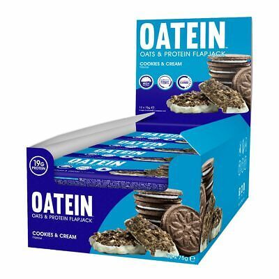 Oatein - Oats & Protein Flapjack - 12 x 75g bars - 18g Protein 310 Kcals per bar