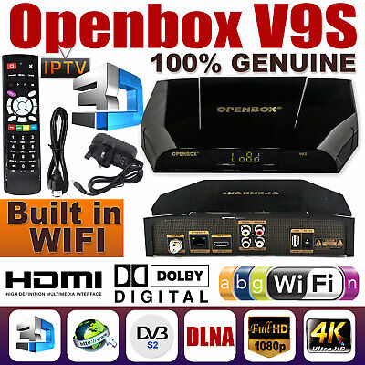 New Satellite Receiver OPENBOX v9s HD Freesat Smart TV 1080 HD Box UK