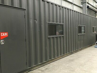 40 Ft Portable Relocatable Modular Office Work/Storage Shed Cabin Ship Container