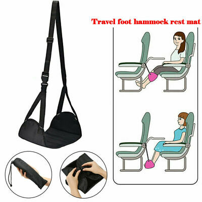 Comfy Hanger Travel Airplane Footrest Hammock Made Premium Memory Foam Foot Rest