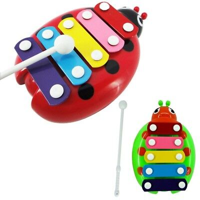 Baby Child Kid 5-Note Beetle Model Xylophone Musical Toys Wisdom Development Toy