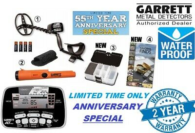 NEW Garrett AT Pro Metal Detector Submersible River Beach Gold 55th Anniversary