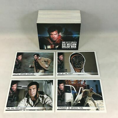 The Complete Six Million Dollar Man S1 & 2 Lee Majors - Card SET (72) 2004 - NM