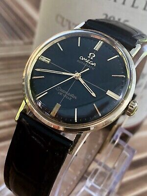 Omega Seamaster De Ville Automatic dial vintage mens 14K gold capped watch + Box