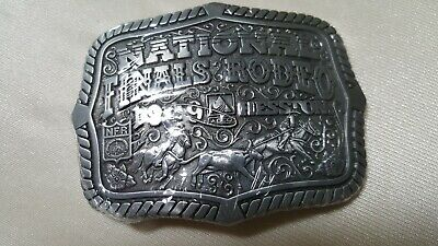 Vintage 1999 Hesston National Finals Rodeo Ltd Ed Collector Buckle NEW SEALED