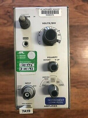Tektronix 7A19 Amplifier 7000 series 1GHz Oscilloscope Plug-In Test Equipment