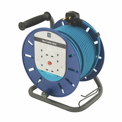 Extension Cable Masterplug  13A 4-Gang 45M Cable Reel