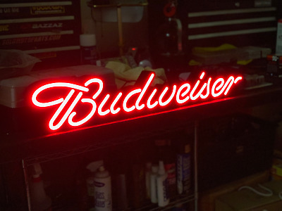 "30"" Long Budweiser Bud Light Led Beer Sign"