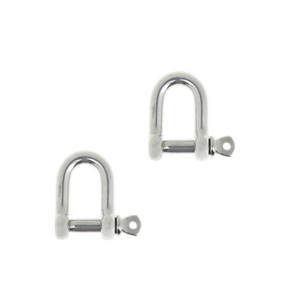 2xM6-6mm Stainless Steel D-Shackle Chain Shackle Rigging Fastener