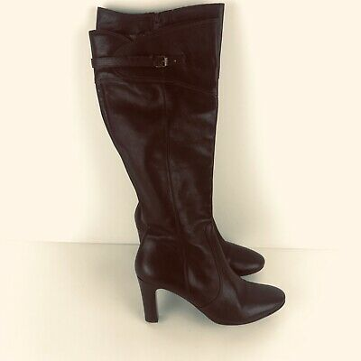 4dfbb179fee J. CREW WOMEN'S Size 8 Brown Knee High Leather Boots F6135 - $39.99 ...