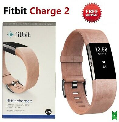 Fitbit Charge 2 Heart Rate Mo Fitness Activity Tracker Leather Pink Large Small