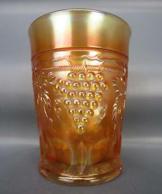 "Northwood GRAPE & CABLE Marigold Carnival Glass 4"" Tumbler 6159"