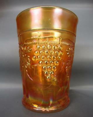 "Northwood GRAPE & CABLE Marigold Carnival Glass 4"" Tumbler 6162"