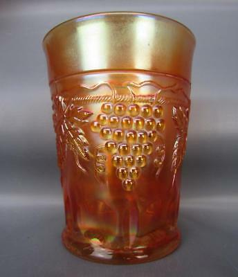 "Northwood GRAPE & CABLE Marigold Carnival Glass 4"" Tumbler 6161"