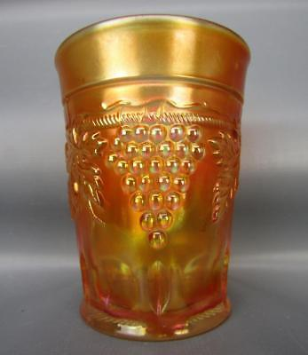 "Northwood GRAPE & CABLE Marigold Carnival Glass 4"" Tumbler 6160"
