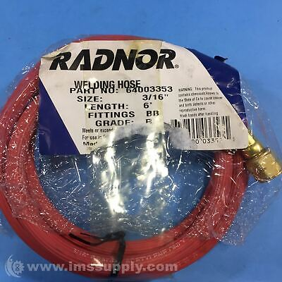 Radnor 64003353 Synthetic Rubber Hose With Bb Hose Fittings Fnob