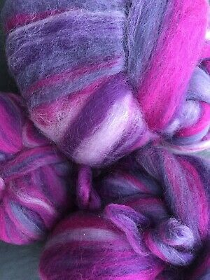Fleece For Carding & Spinning, Very Soft. Purples, Greys & Pinks