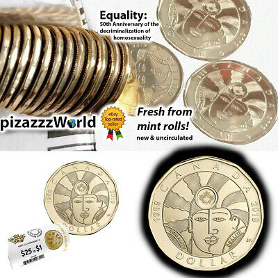 2019 Canada $1 Loonie EQUALITY coins UNCIRCULATED NEW from Mint-Rolls COINS