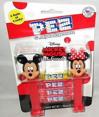 DISNEY MICKEY MOUSE & FRIENDS Pez Dispensers 2 pack  MICKEY AND MINNIE